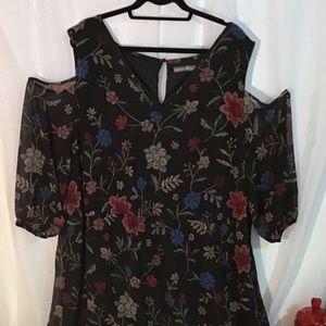 Cold shoulder dress